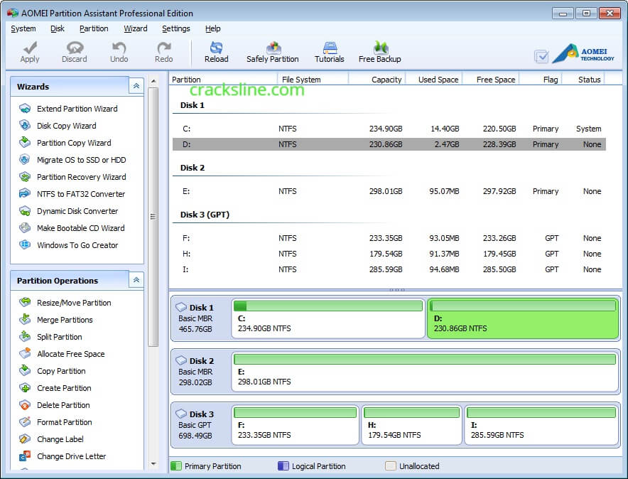 AOMEI Partition Assistant 8.10 With Crack Download