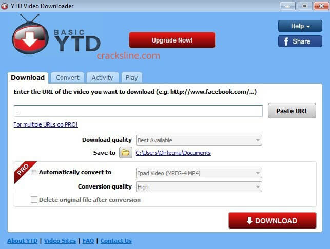 YTD Video Downloader PRO Crack With Serial Key 2020