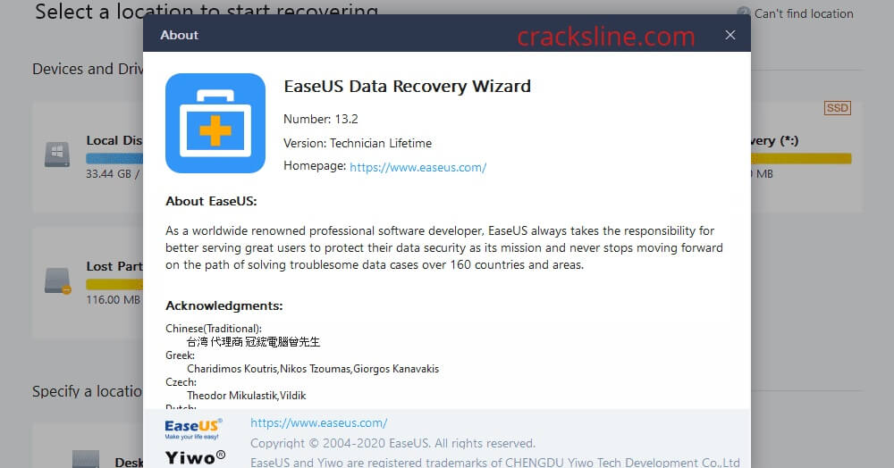 EaseUS Data Recovery Wizard Key Download